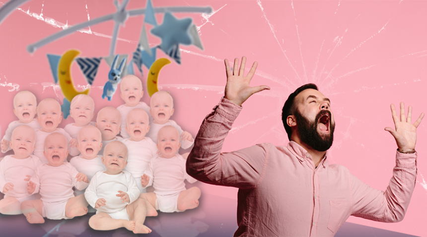A newborn baby cries too much